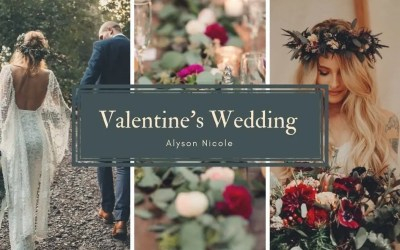 Modern Valentine's Wedding Inspiration