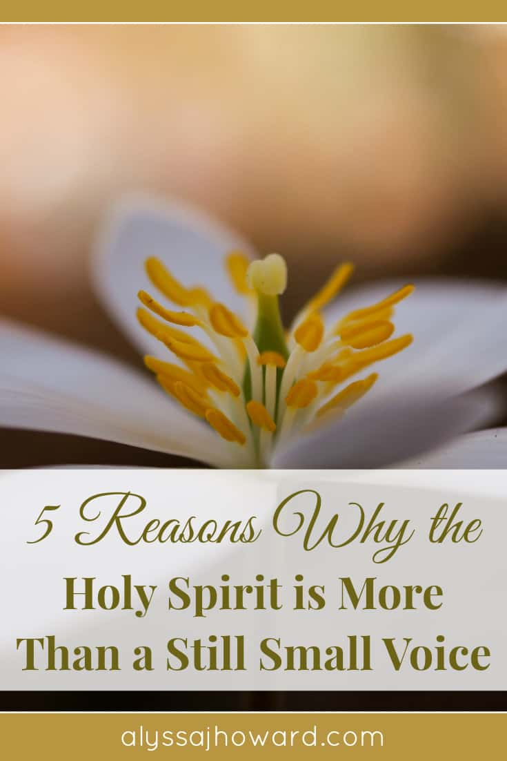 5 Reasons Why the Holy Spirit is More Than a Still Small Voice | alyssajhoward.com