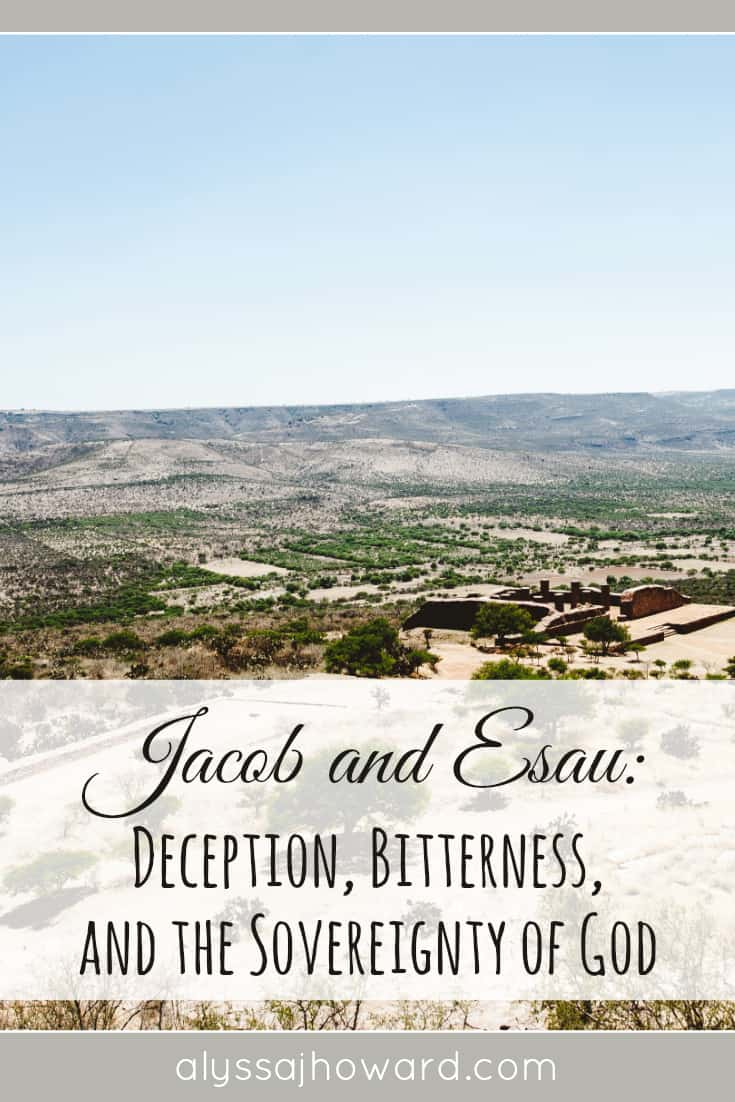 Jacob and Esau: Deception, Bitterness, and the Sovereignty of God   alyssajhoward.com