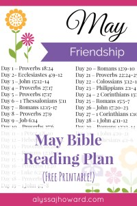 May Bible Reading Plan | alyssajhoward.com