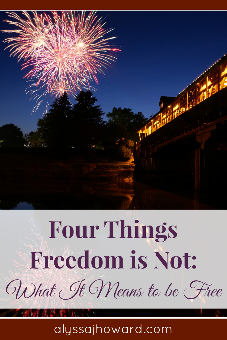 4 Things Freedom is Not: What It Means to be Free | alyssajhoward.com