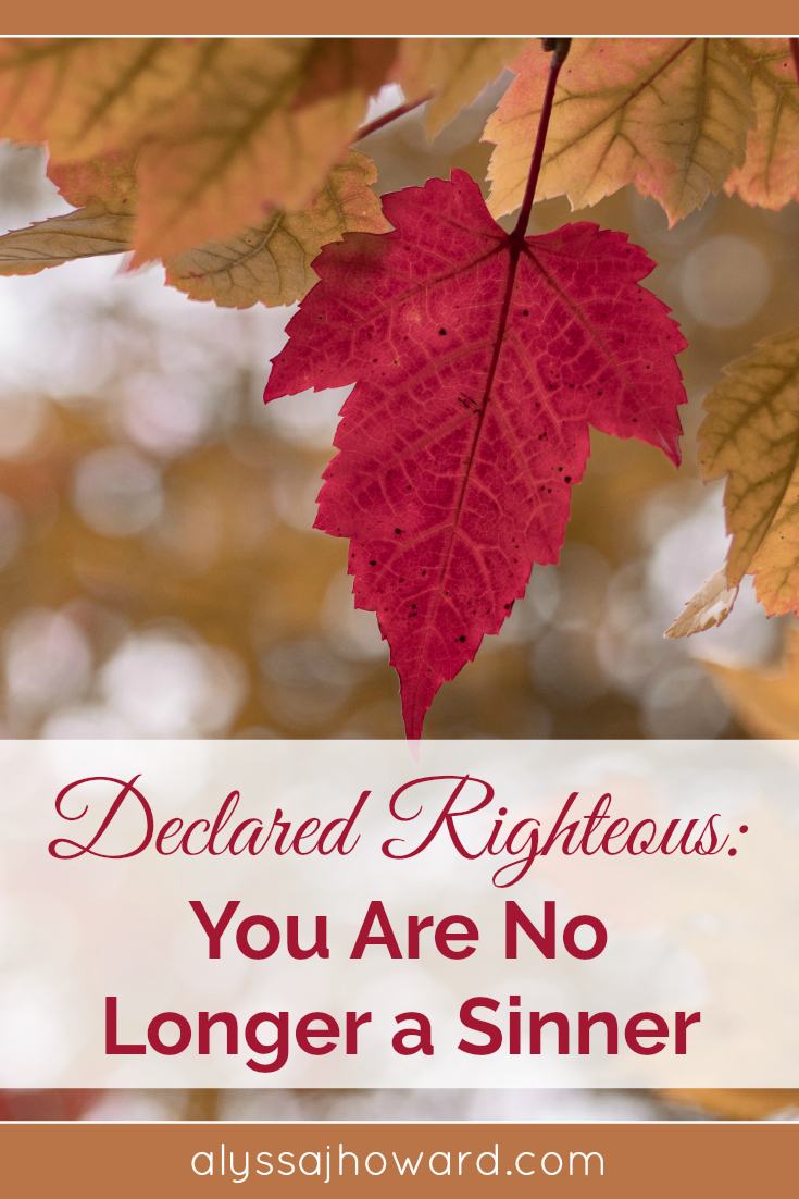 Declared Righteous: You Are No Longer a Sinner | alyssajhoward.com