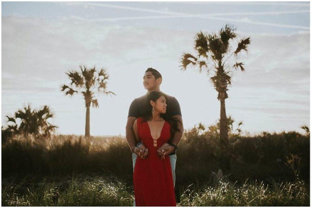 romantic st augustine engagement session