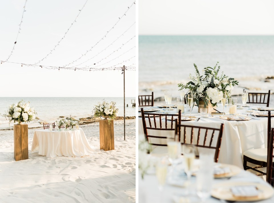 Sunset wedding reception at Waldorf Casa Marina Resort