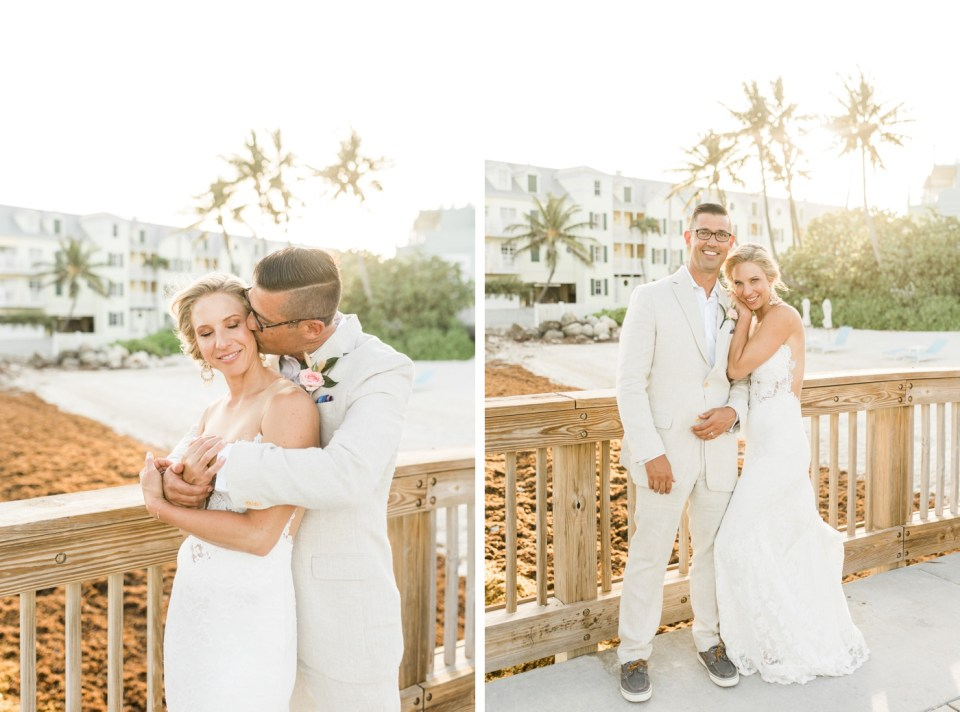 Sunset bride and groom portraits