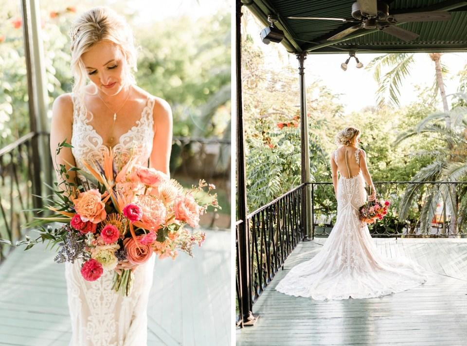 Tropical bridal bouquet by Duarte Floral Design