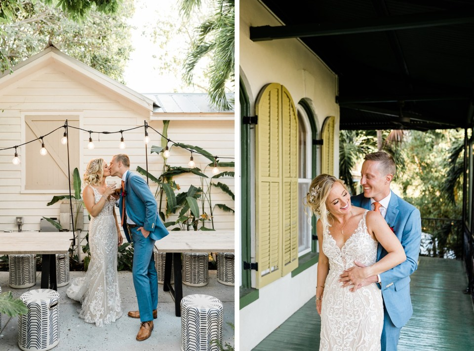 Bride and groom portraits at The Hemingway House