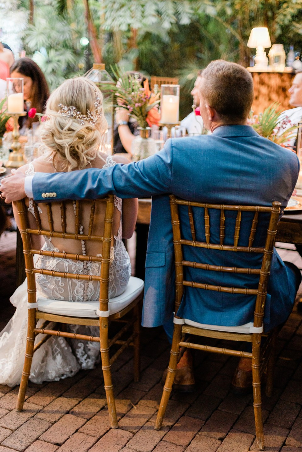 Outdoor wedding reception at the Hemingway Home