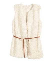 FAUX FUR VEST - Natural White; Source: hm.com