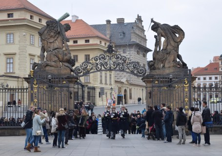 Changing of the guards at Prague Castle