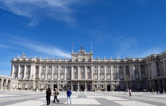 The Royal Palace of Madrid from the palace courtyard