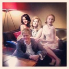 Stephanie Leigh Rose, Me, Emily Bennet, writer/director Darren Callahan.