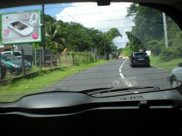 Driving in Martinique