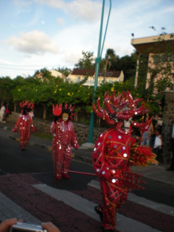 Les Diables Rouges, Red Devils, Carnival in Martinique