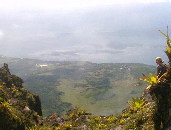 Le Precheur de la Montagne Pelee, view from Mont Pelee