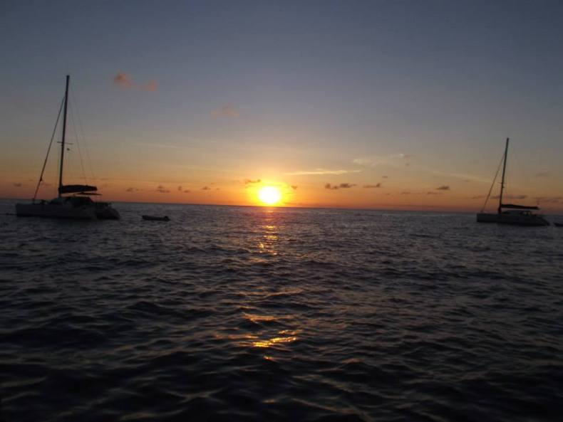 Dominica, sunset
