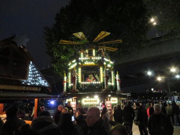 Lights at Christmas Market Southbank Centre, London