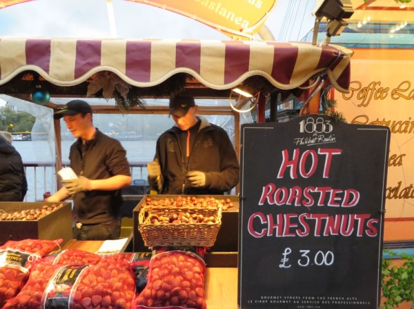 Roasted Chestnuts, Southbank Centre, Christmas, London