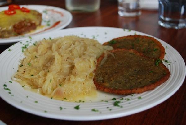 Bramboraky and Czech cabbage