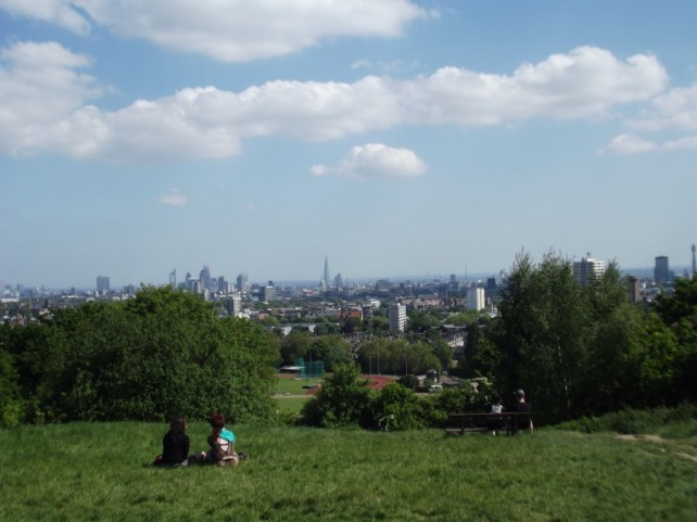 View to City of London from Parliament Hill, Hampstead Heath