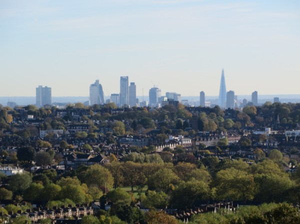 City of London; view from Alexandra Palace