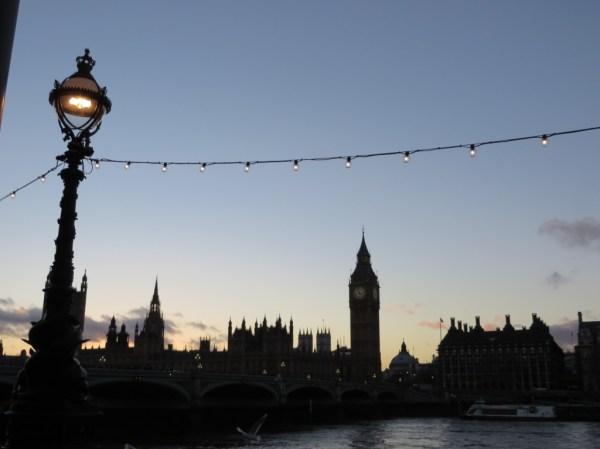 Big Ben, Thames river, London, Christmas Lights in London, bicycle tour, Christmas lights bicycle tour in London