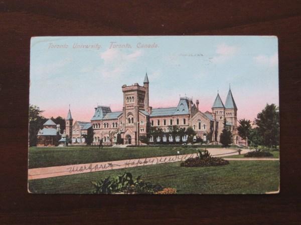 vintage Postcard, University of Toronto, in Prague, Czech Republic
