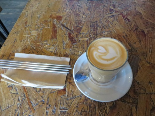 Latte art, coffee in east London