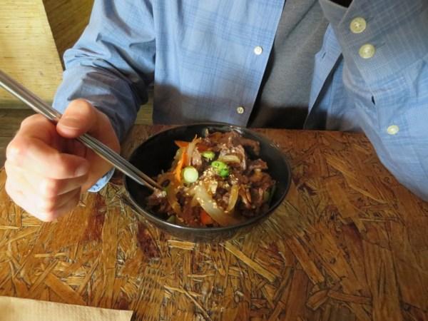 Korean food in East London, Hurwundeki cafe