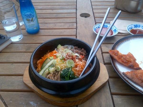 bibimbap, Korean food in London, Hurwundeki Cafe, london apps, food spotting app