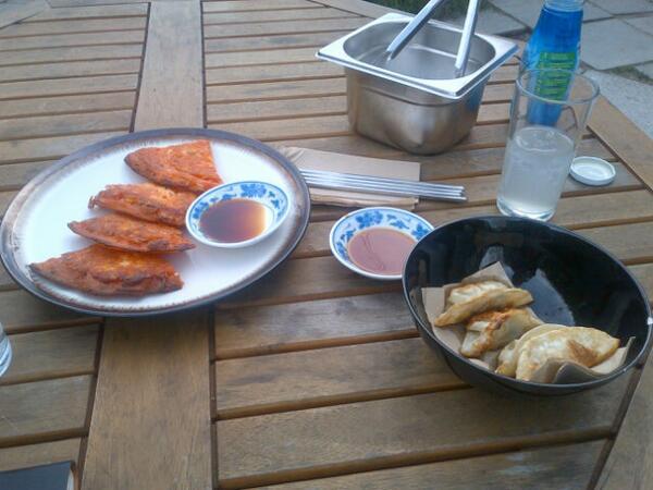 kimchi jeon, chicken dumplings, korean food in London