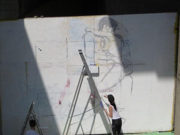 Street art, London, Festival of Love, Southbank