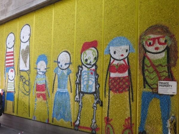 Street Art, London, Stik, Hungerford Bridge