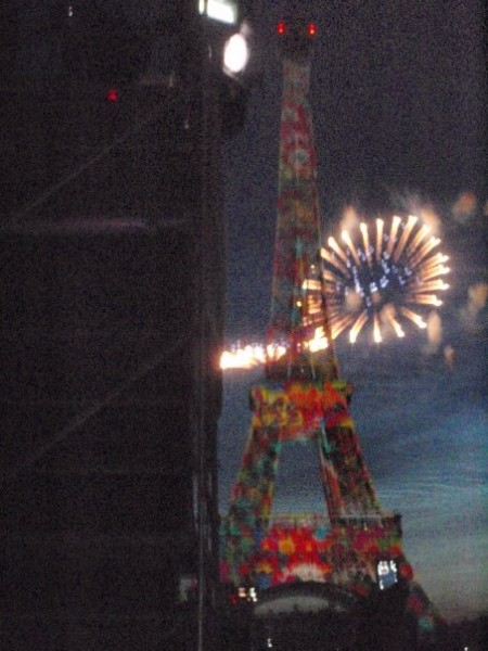 Bastille day fireworks, Eiffel Tower, Champ de Mars, Paris, all-nighter