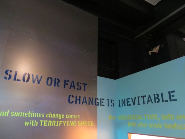 Slow or fast, change is inevitable, Natural History Museum, London