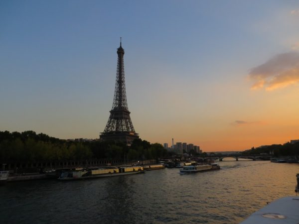 View of the Eiffel Tower from the Seine, Paris