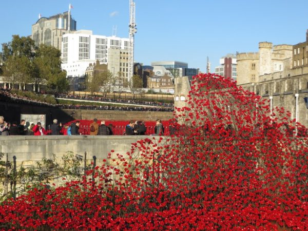 Tower of London poppy installation, Blood Swept Lands and Seas of Red