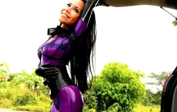 WANTEDSUGAR ASIAN RUBBER DRESS