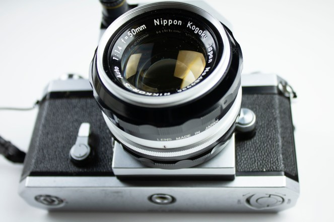 Nikon F with Nikkor-S 50mm f/1.4 lens