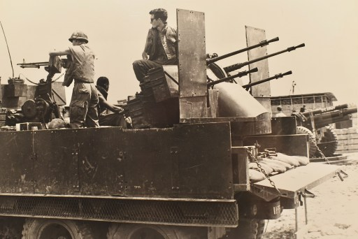 Duce and a half truck with M60 machine gun, a quad 50cal. On the back and my old 105mm Howitzer on the right.