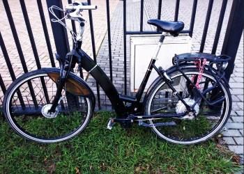 Netoli Nemuno upės rastas juodos spalvos elektrinis dviratis.  Dėl informacijos apie minėtą dviratį ar atsiradus jo savininkui - skambinti 112