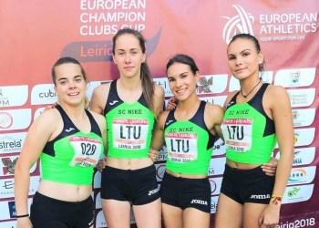 Alytiškė bėgikė D. Petraškaitė (nuotraukoje - antra iš kairės) - Europos jaunių čempionų taurės turnyre Portugalijoje
