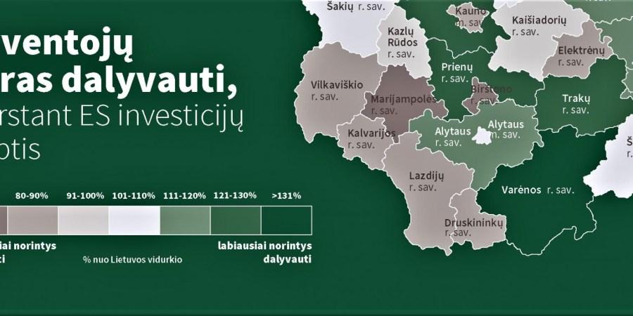 ES investicinių projektų svarstymuose savo nuomonę pareikšti Varėnos rajone norėtų 75 proc., Alytaus rajone – 67 proc. gyventojų