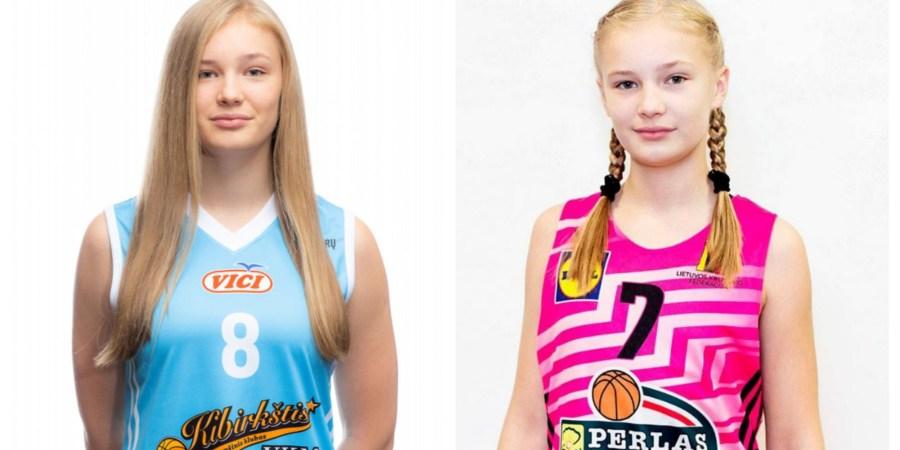 G. Raulušaitytė šiame sezone (kairėje) ir prieš 7-8 metus (dešinėje)