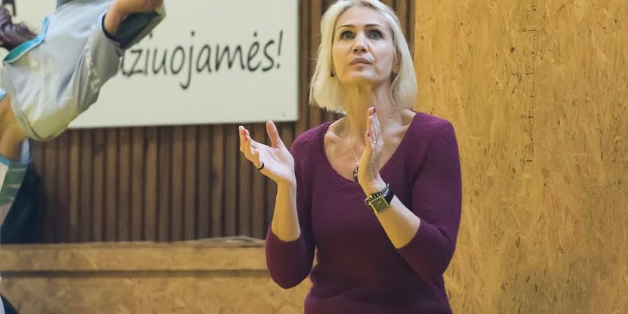 "Alytaus ""RKL-gut.lt"" komandos trenerė Kristina Grižienė. D. Lukštos nuotr."