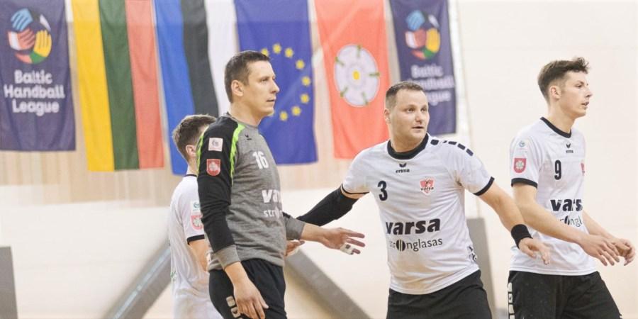 """Alytaus rankinio klubo """"Varsa"""" komanda į Baltijos lygą sugrįžo po trisdešimties metų ir šiuo metu užima ketvirtąją vietą tarp dvylikos ekipų. Domanto Aleksyno nuotr."""