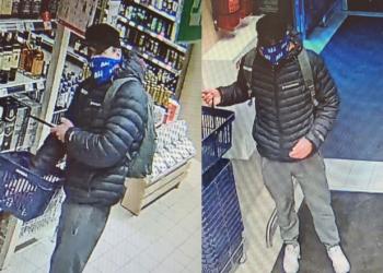 Šis nenustatytos tapatybės asmuo iš prekybos salės pasiėmė 5 butelius alkoholinių gėrimų ir išėjo nesumokėjęs