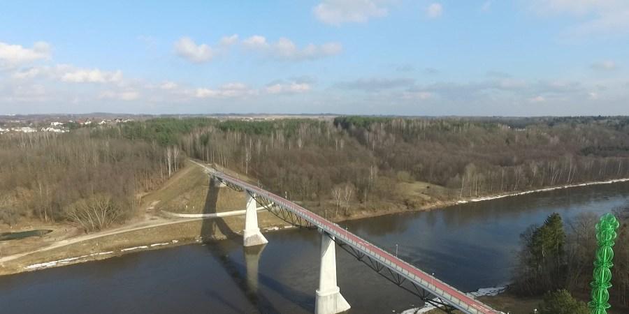 Savivaldybės perkami sklypai reikalingi pratęsti dviračių ir pėsčiųjų taką nuo Alytaus miesto Baltosios rožės tilto. Alytausgidas.lt aeronuotrauka