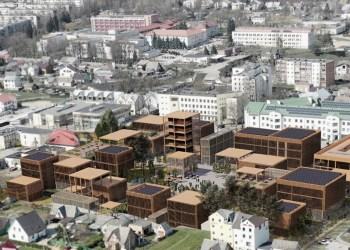 A. Jurčiukonytės suprojektuota teritorija buvusioje Alytaus autobusų stotyje Jotvingių gatvėje