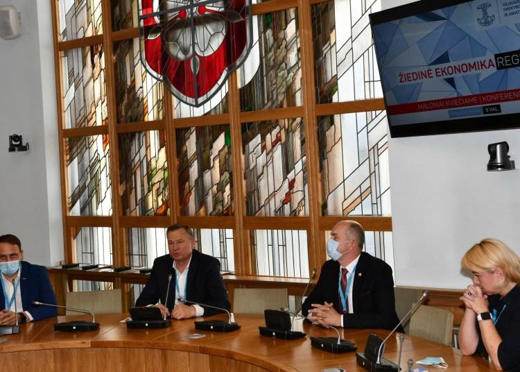 A. Vrubliauskas savo pasisakyme akcentavo, kad Alytaus regiono savivaldybės turi derinti ir jungti projektus